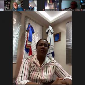 Xiomara Guante, Presidenta de ADP en Videoconferencia OLPE